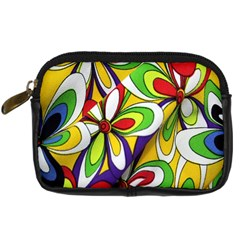 Colorful Textile Background Digital Camera Cases by Simbadda