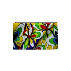 Colorful Textile Background Cosmetic Bag (small)  by Simbadda