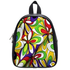 Colorful Textile Background School Bags (small)  by Simbadda