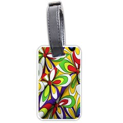 Colorful Textile Background Luggage Tags (one Side)  by Simbadda