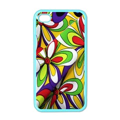 Colorful Textile Background Apple Iphone 4 Case (color) by Simbadda