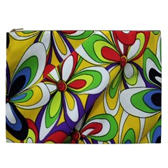 Colorful Textile Background Cosmetic Bag (xxl)  by Simbadda