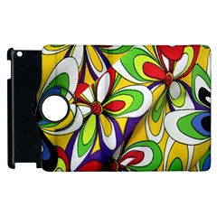 Colorful Textile Background Apple Ipad 3/4 Flip 360 Case by Simbadda