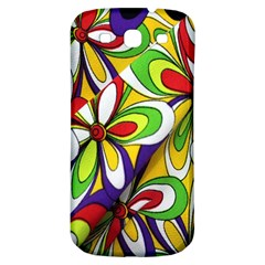 Colorful Textile Background Samsung Galaxy S3 S Iii Classic Hardshell Back Case by Simbadda