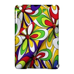 Colorful Textile Background Apple Ipad Mini Hardshell Case (compatible With Smart Cover) by Simbadda