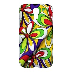 Colorful Textile Background Samsung Galaxy S4 I9500/i9505 Hardshell Case by Simbadda