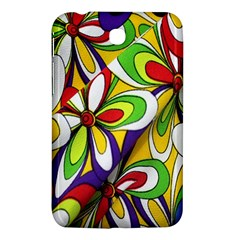 Colorful Textile Background Samsung Galaxy Tab 3 (7 ) P3200 Hardshell Case  by Simbadda