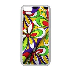 Colorful Textile Background Apple Iphone 5c Seamless Case (white) by Simbadda