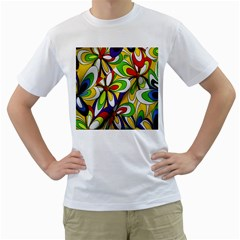 Colorful Textile Background Men s T Shirt (white)  by Simbadda