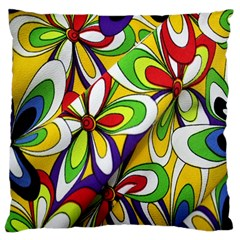 Colorful Textile Background Large Flano Cushion Case (two Sides) by Simbadda