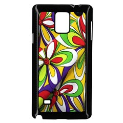 Colorful Textile Background Samsung Galaxy Note 4 Case (black) by Simbadda