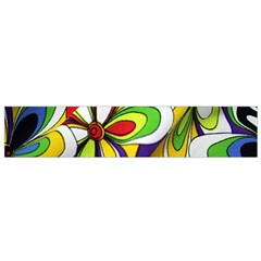 Colorful Textile Background Flano Scarf (small)