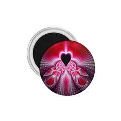 Illuminated Red Hear Red Heart Background With Light Effects 1 75  Magnets by Simbadda