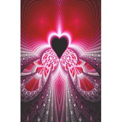 Illuminated Red Hear Red Heart Background With Light Effects 5 5  X 8 5  Notebooks by Simbadda
