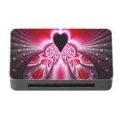 Illuminated Red Hear Red Heart Background With Light Effects Memory Card Reader With Cf by Simbadda