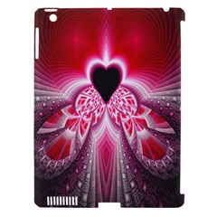 Illuminated Red Hear Red Heart Background With Light Effects Apple Ipad 3/4 Hardshell Case (compatible With Smart Cover) by Simbadda