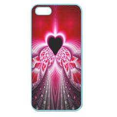 Illuminated Red Hear Red Heart Background With Light Effects Apple Seamless Iphone 5 Case (color) by Simbadda