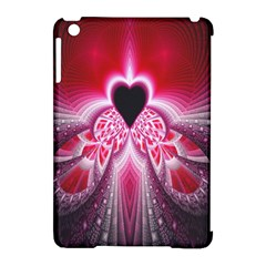 Illuminated Red Hear Red Heart Background With Light Effects Apple Ipad Mini Hardshell Case (compatible With Smart Cover) by Simbadda