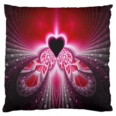 Illuminated Red Hear Red Heart Background With Light Effects Standard Flano Cushion Case (one Side) by Simbadda