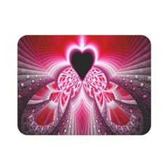 Illuminated Red Hear Red Heart Background With Light Effects Double Sided Flano Blanket (mini)  by Simbadda