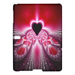 Illuminated Red Hear Red Heart Background With Light Effects Samsung Galaxy Tab S (10 5 ) Hardshell Case  by Simbadda