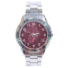 Abstract Purple Background Natural Motive Stainless Steel Analogue Watch by Simbadda