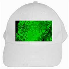 Leaf Outline Abstract White Cap by Simbadda