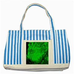 Leaf Outline Abstract Striped Blue Tote Bag by Simbadda