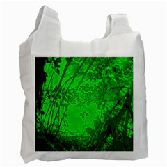 Leaf Outline Abstract Recycle Bag (one Side)