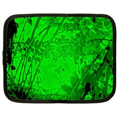 Leaf Outline Abstract Netbook Case (xl)  by Simbadda