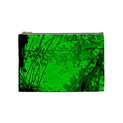 Leaf Outline Abstract Cosmetic Bag (medium)  by Simbadda