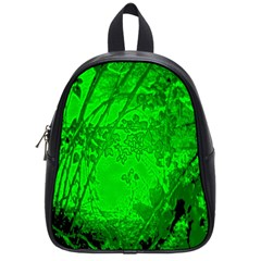 Leaf Outline Abstract School Bags (small)  by Simbadda