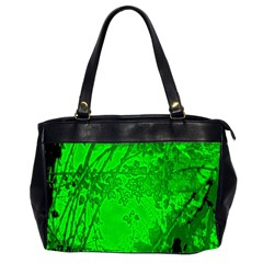 Leaf Outline Abstract Office Handbags (2 Sides)  by Simbadda