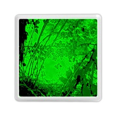 Leaf Outline Abstract Memory Card Reader (square)  by Simbadda