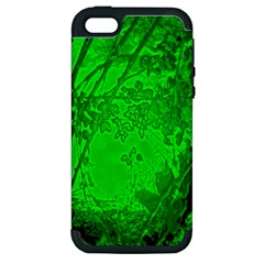 Leaf Outline Abstract Apple Iphone 5 Hardshell Case (pc+silicone) by Simbadda