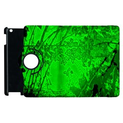 Leaf Outline Abstract Apple Ipad 2 Flip 360 Case by Simbadda
