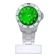 Leaf Outline Abstract Plastic Nurses Watch by Simbadda