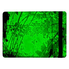Leaf Outline Abstract Samsung Galaxy Tab Pro 12 2  Flip Case by Simbadda