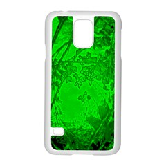 Leaf Outline Abstract Samsung Galaxy S5 Case (white) by Simbadda