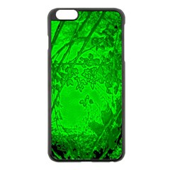 Leaf Outline Abstract Apple Iphone 6 Plus/6s Plus Black Enamel Case by Simbadda