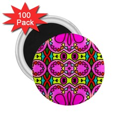 Colourful Abstract Background Design Pattern 2 25  Magnets (100 Pack)  by Simbadda