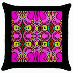 Colourful Abstract Background Design Pattern Throw Pillow Case (black) by Simbadda