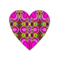 Colourful Abstract Background Design Pattern Heart Magnet by Simbadda