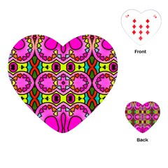 Colourful Abstract Background Design Pattern Playing Cards (heart)  by Simbadda