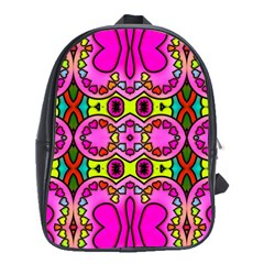 Colourful Abstract Background Design Pattern School Bags(large)  by Simbadda