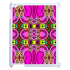 Colourful Abstract Background Design Pattern Apple Ipad 2 Case (white) by Simbadda