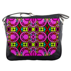 Colourful Abstract Background Design Pattern Messenger Bags by Simbadda
