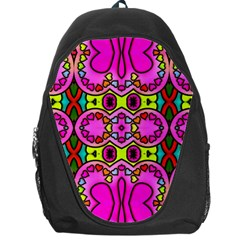 Colourful Abstract Background Design Pattern Backpack Bag by Simbadda
