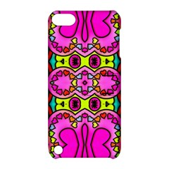 Colourful Abstract Background Design Pattern Apple Ipod Touch 5 Hardshell Case With Stand by Simbadda
