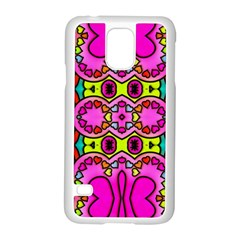Colourful Abstract Background Design Pattern Samsung Galaxy S5 Case (white) by Simbadda